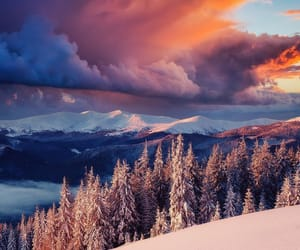 clouds and winter image