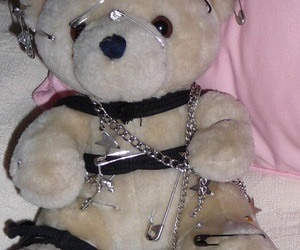 baby, bear, and chains image