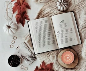 aesthetic, book, and autumn image