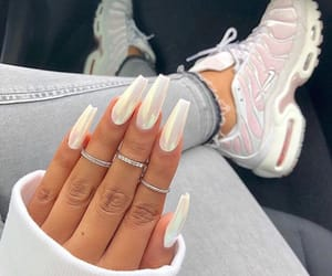 nails, shoes, and white image