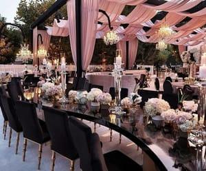 flowers, wedding, and black image