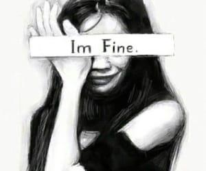 sad and imfine image