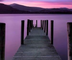 sky, purple, and mountains image