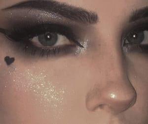 makeup, girl, and grunge image