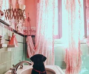 banheiro, rosa, and decoração image