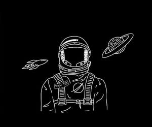 astronaut, space, and wallpaper image