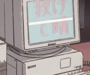 anime, computer, and 90s image