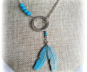 etsy, silver necklace, and lariat necklace image