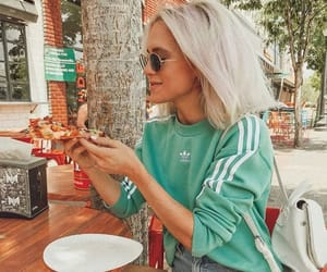 style, adidas, and pizza image