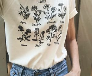 flowers, clothes, and fashion image