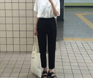 &, white, and mom jeans image