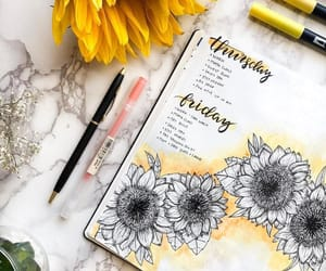 agenda, doodle, and journaling image