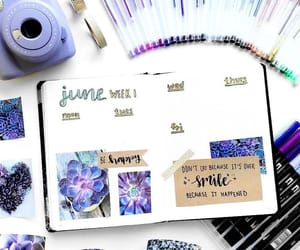 Collage, journaling, and lilac image
