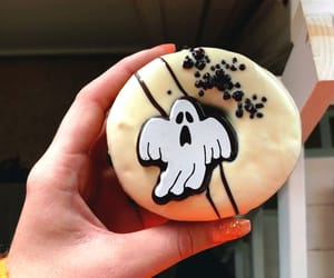 chocolate, donut, and ghost image