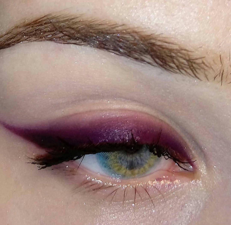 makeup, alternative, and purple image