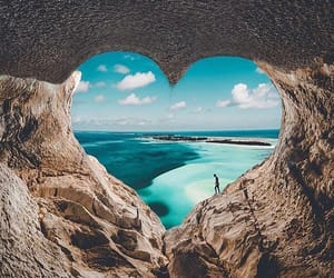heart, beach, and nature image