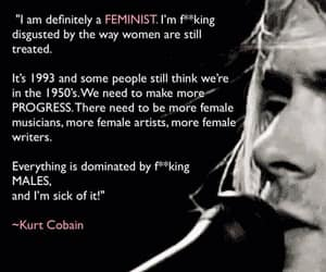 feminist, kurt, and kurt cobain image