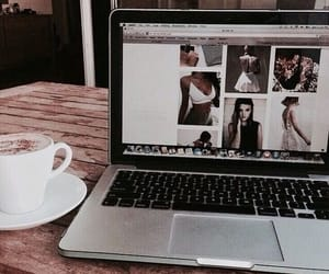 coffee, tumblr, and laptop image
