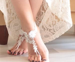 etsy, lace shoes, and bridal barefoot image