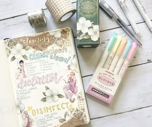 journaling, pastel, and planner image