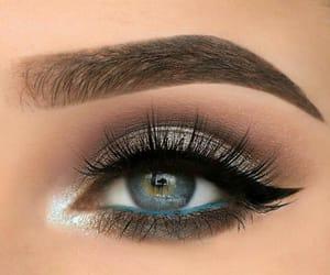 makeup, eyes, and beautiful image