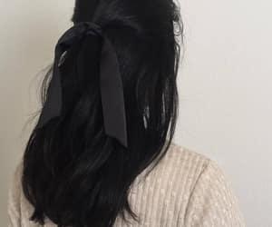 hair, black, and girl image