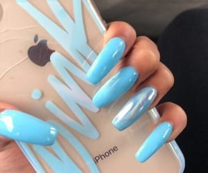 baby blue and nails image