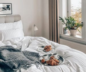 bedroom, breakfast, and fashion image