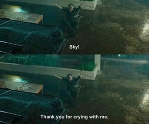 cry, sky, and quotes image