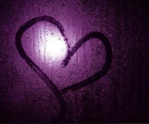 heart, purple, and rain image