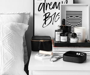 bedroom, bedside table, and fashion image