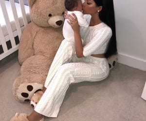 baby, kids, and teddy bear image