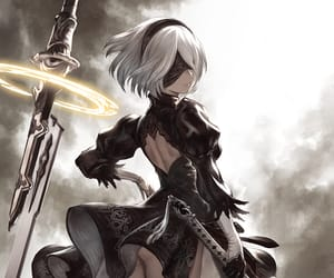 2b, nier automata, and pixiv id 209263 image