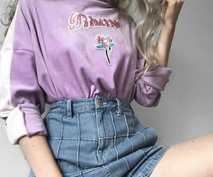 fashion, girl, and purple image
