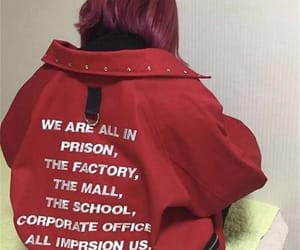 red, red jacket, and swag image