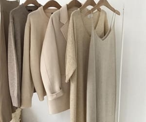 beige, closet, and clothes image