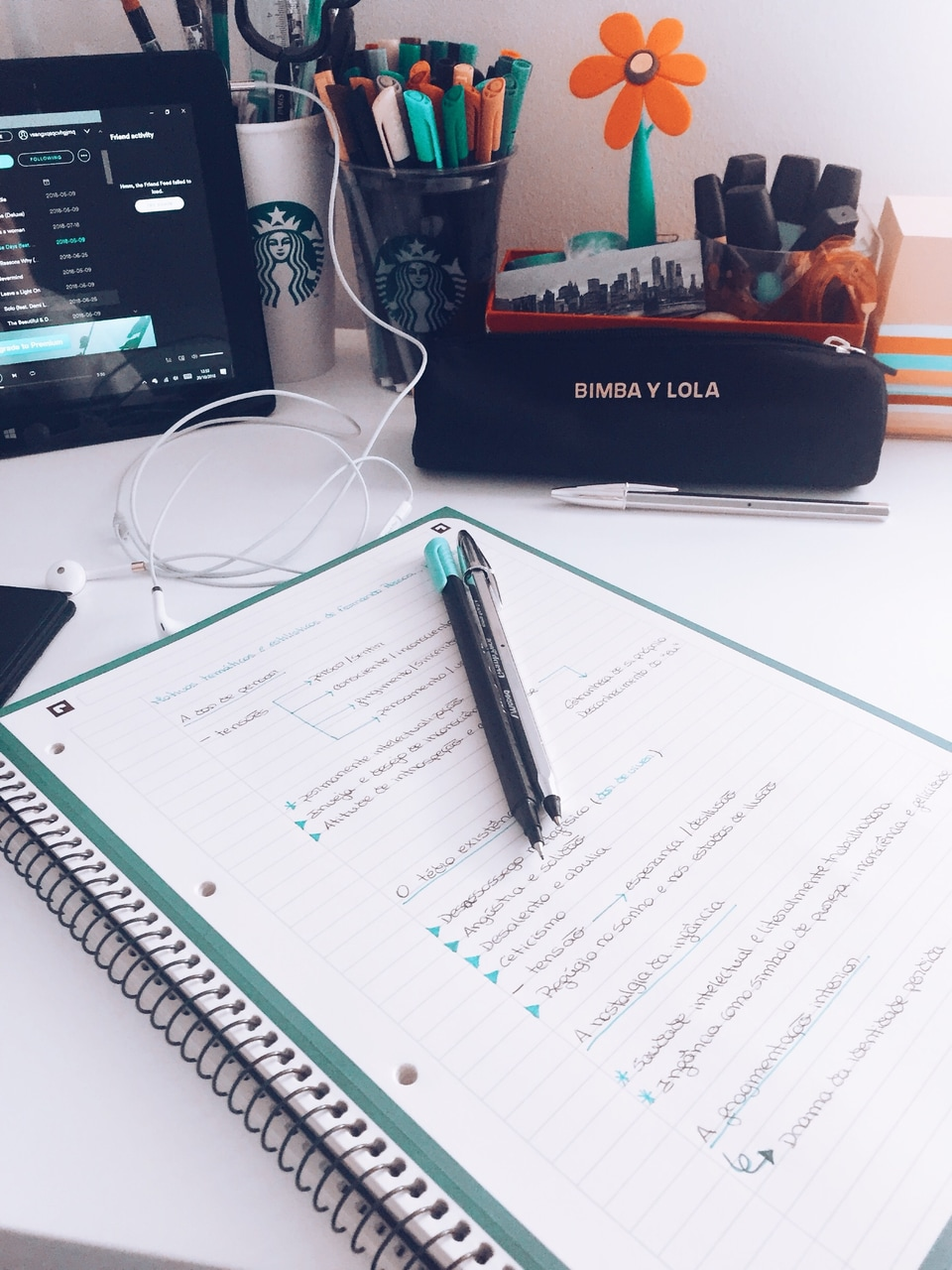 desk, headphones, and inspiration image