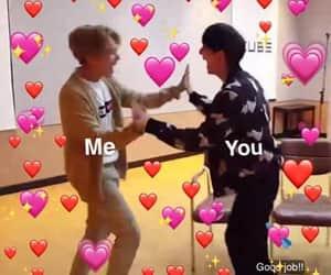 crush, love, and meme image