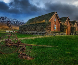 farm, Houses, and iceland image