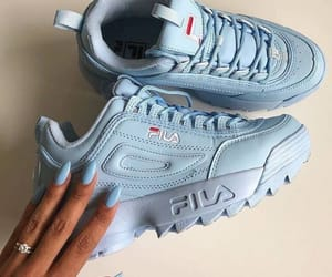 shoes, Fila, and blue image