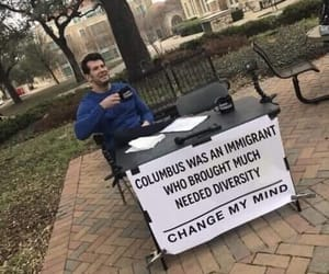 immigrants, meme, and columbus image