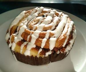 cinnamon rolls, food, and starbucks image