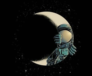 aesthetic, astronaut, and space image