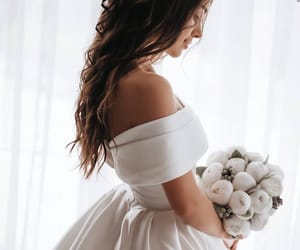bride, wedding, and girls image