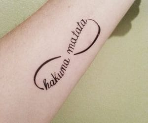 Tattoos, hakuna matata, and cute tattoos image