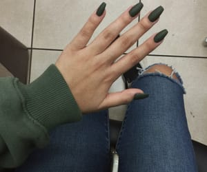 matte, olive green, and length image