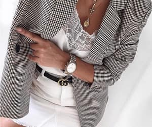blazer, fashion, and skirt image