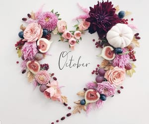 flowers, october, and quotes image