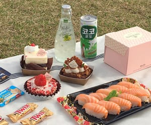 food, sushi, and picnic image
