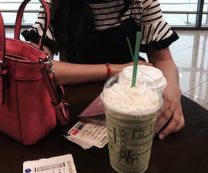 airport, drinks, and starbuck image